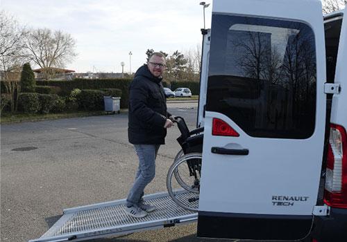 transport fauteuil roulant Atout Move à Wattrelos, Roubaix, Tourcoing